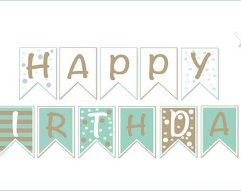 Happy Birthday - Download & Printable birthday banner