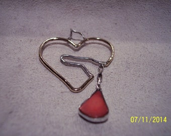 Gold n Sterling Broken Heart pendant