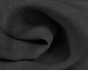 Black Burlap Fabric - by the Yard