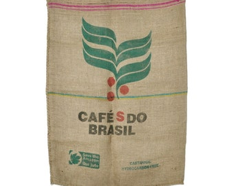 Used Burlap Coffee Bags - Sold Individually