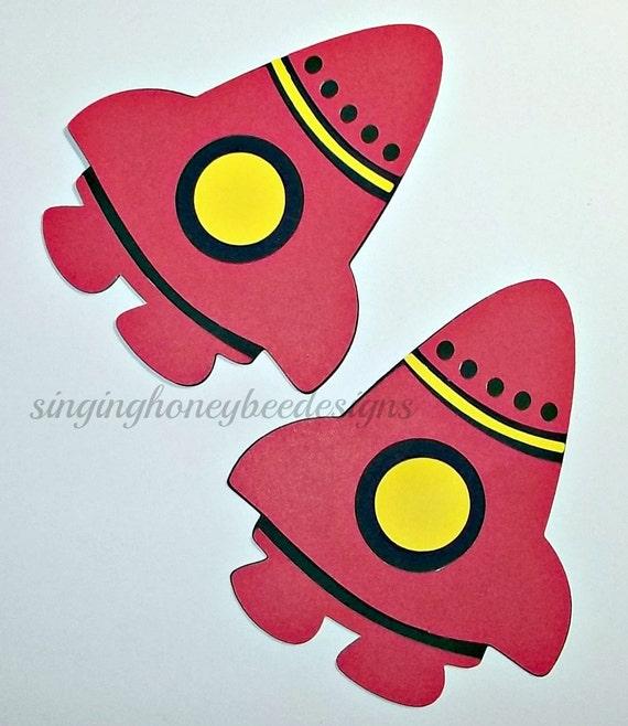 Rocket Ship Diecut Spaceship Diecut Spaceship Cutout