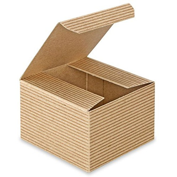 Gold Favor Boxes 4x4x4 : On sale x inch kraft gift boxes wedding by