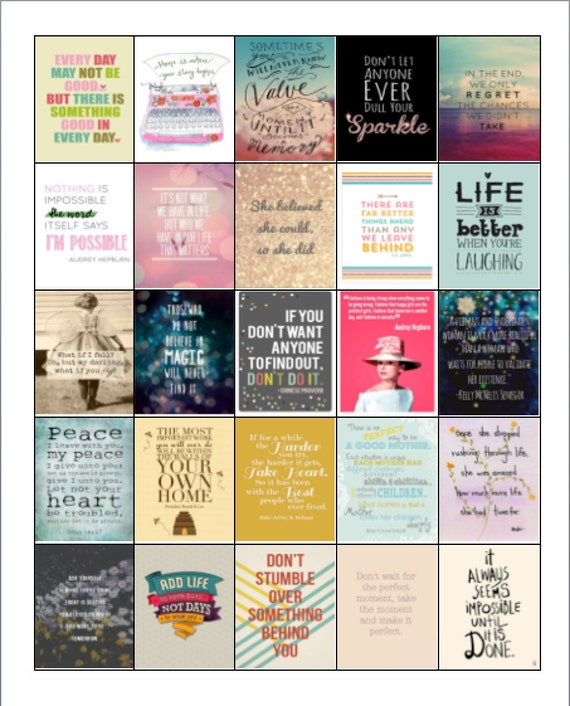 Inspirational Quotes Stickers for Erin Condren Planners