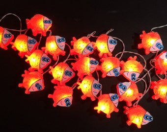 Under the sea string lights fairy lights nautical themed for Fish string lights
