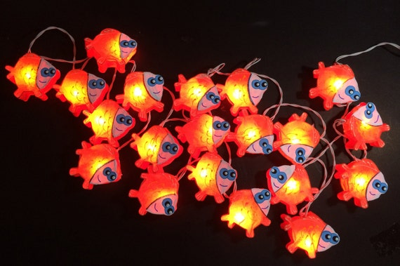 cartoon fish Mulberry paper String Lights Fairy lights Party