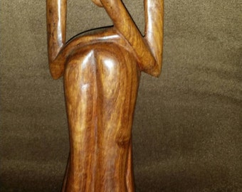 AFRICAN THINKING MAN. 10-12 inches tall