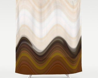 Brown shower curtain Etsy