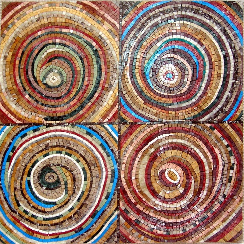 Circle within a circle design abstract modernism mosaic for Mural mosaic