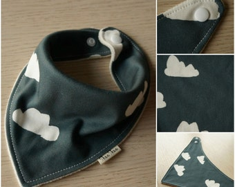 Organic, stylish baby or toddler bandana bibs