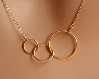 three interlocking rings etsy