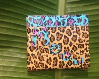 Meow cheeta duck tape wallet