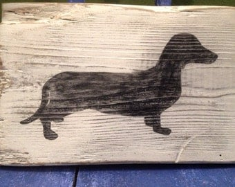 Rustic Wiener Dog