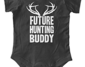 Future Hunting Buddy Baby One Piece Body Suit Engineering Gifts Baby Graphic Infant Clothing Baby Shower Gift Short Sleeve Bodysuit Romper