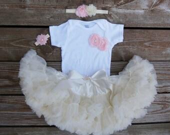 First birthday tutu. Birthday tutus. 1st birthday tutu. Baby girl birthday pettiskirt SET.  Birthday tutu outfit. Tutu birthday girl.