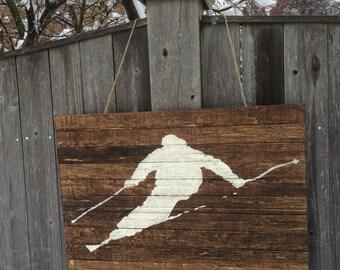 Skier Wall Hanging