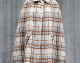 Vintage 70's wool cape made in France