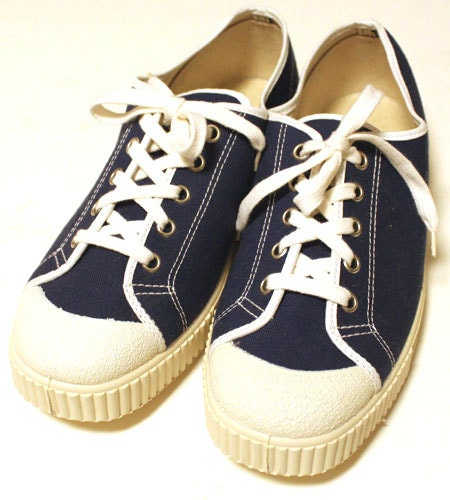 deadstock 60 s vintage canvas shoes made in italy