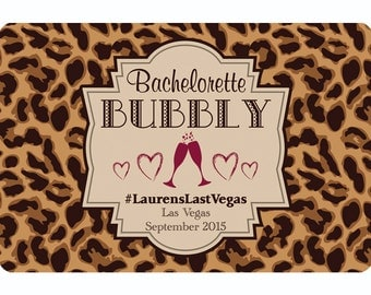 """12 Custom Wine Labels """"Bachelorette Bubbly"""" for Bachelorette Parties (Reduced Price for Larger Quantities) - 55860A"""