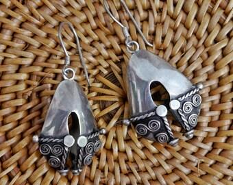 Sterling Silver Balinese Earrings