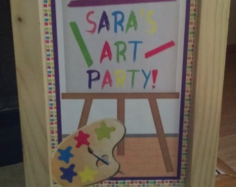 Art Easel Party Sign