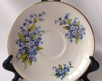 Royal Victoria Forget Me Not Saucer (Not Perfect)