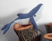 Whale soft miniature home decor. Between sea and sky. Novelty. For bedroom lounge room nursery room.