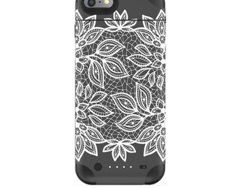 Skin Decal Wrap for Mophie H2Pro iPhone 6/6+ LG G4 Air iPhone 6  5 iPhone 4 Galaxy S6 Edge S7 Edge Vinyl Cover Skins Floral Lace