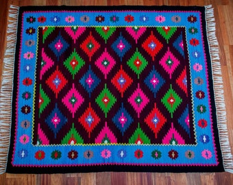 Romanian vintage Boho rug