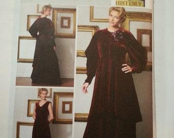 Edwardian dress /historical costume /Reenactment clothing /2009 sewing pattern, Bust 30 31 32 34, Sizes 6 8 10 12, Butterick 5405
