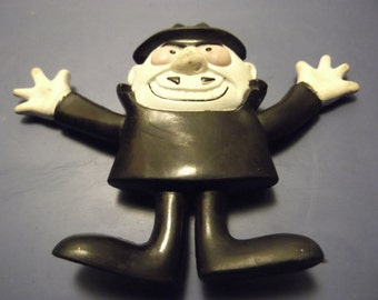 Boris ~ Rocky and Bullwinkle ~ Bendy Figure Action Figure ~ Collectable toy ~ Vintage toy ~ Carnival of Fashion