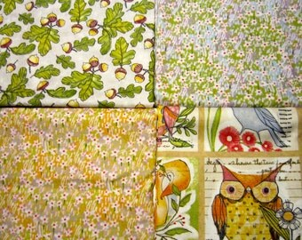 Cori Dantini Good Company Blend Fabric Set with 4 Coordinating Woodland Cotton Prints