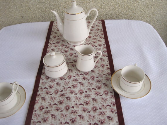 table runner table linens dining room table accessories floral