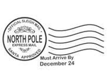 North Pole Postmark Rubber Stamp - 205H02