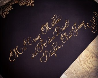 Custom Wedding Calligraphy for Envelopes, Invitations and Event Details
