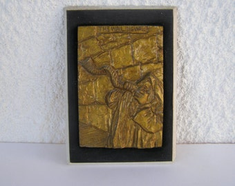 The Western Wall, Israel Jewish Judaica Ceramic Wall Relief Plaque by C.SNAIDER