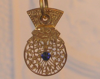 Antique Gold Verge Fusee Pocket Watch Pendant