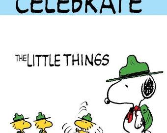 Peanuts Snoopy Woodstock 16 x 20