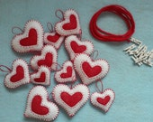 Handmade Felt and Burlap Hearts Garland