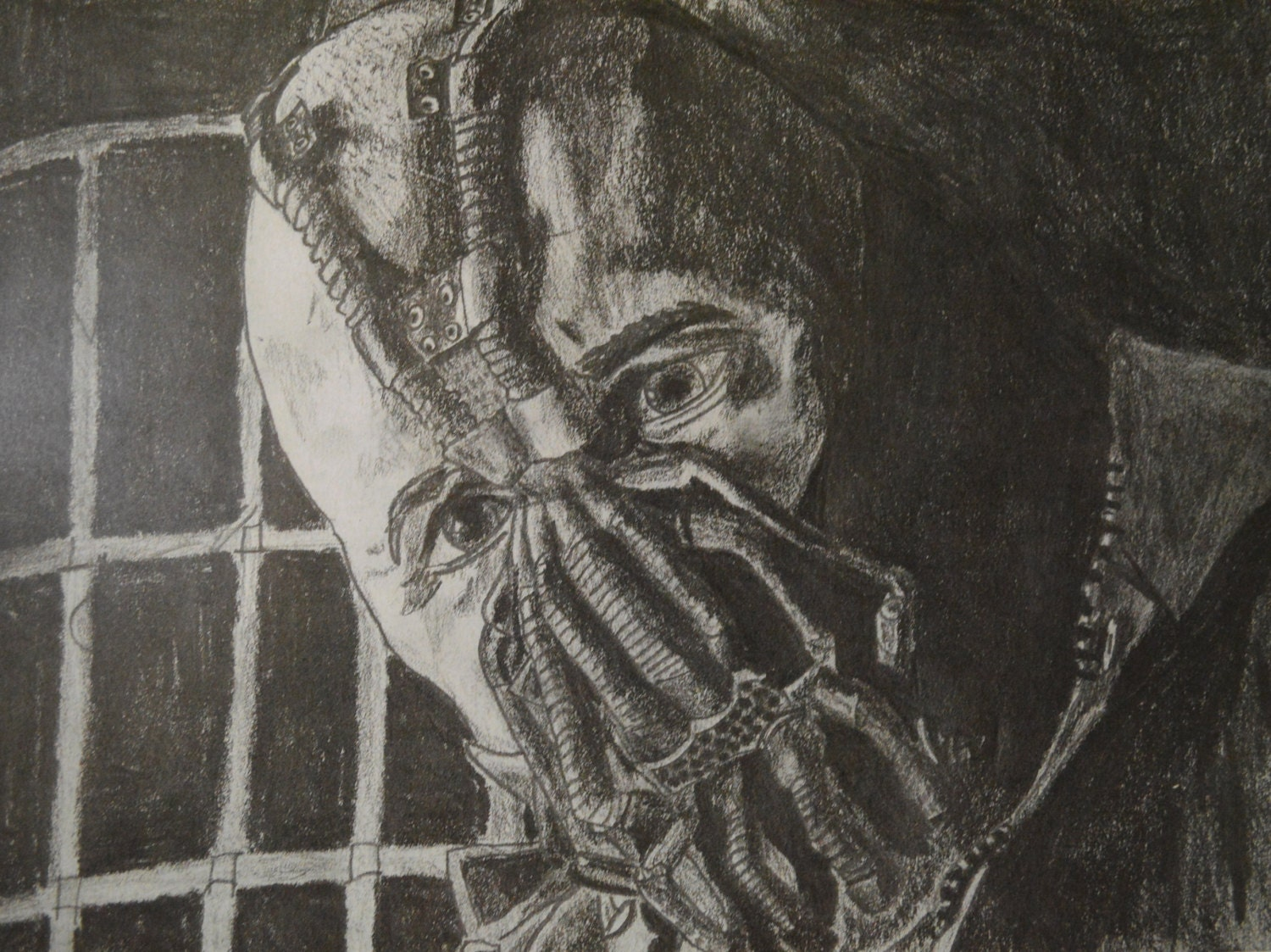 Bane Pencil Drawing from Batman Print by OrcuttsArtRoom on ...