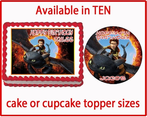 edible cake toppers how to train your dragon