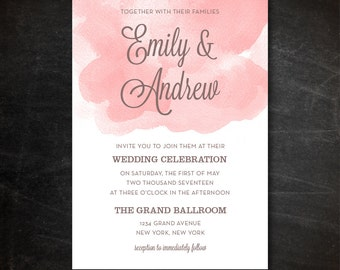 Wedding Invitation Template - Printable Wedding Invitation - Editable Wedding Template - Instant Download - Photoshop PSD