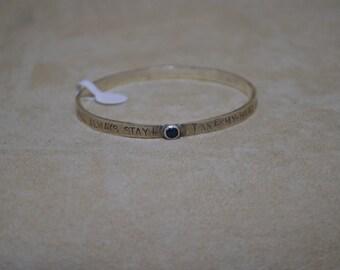 Take My Hand Sterling Silver Bangle Bracelet