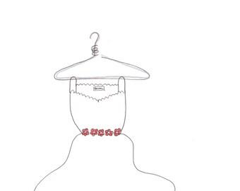 Pkg/5 Pretty Little Dress Note Cards