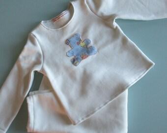 Two piece Pajamas unbleached organic cotton