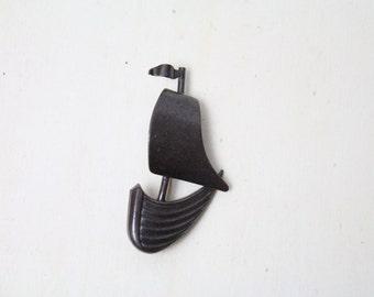 Vintage Anstecker Pin Segelschiff Schmuck Sailor Matrose Metall Brosche