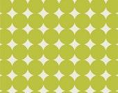CLEARANCE - 1/2 Yard - Heather Bailey / TRUE COLORS / Mod Dot in Olive / Polka Dot / Free Spirit Fabrics