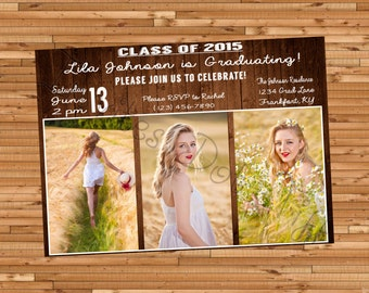 Country Themed Graduation Invitation (Horizontal & Vertical Available!) (Printable)