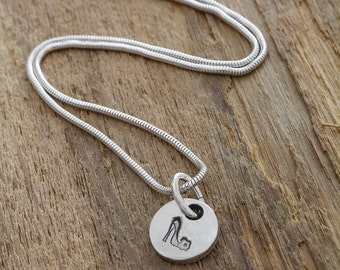 Silver Shoe Pendant - Fine Silver Shoe Necklace - Silver Shoe Charm - Shoe Charm Necklace - Shoe Charm Pendant - Sterling Silver Necklace