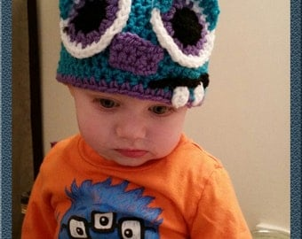 Monster crochet character hat