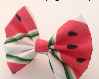 Watermelon hair bows